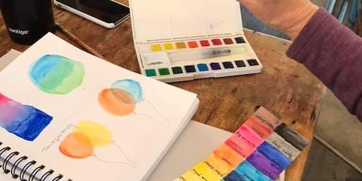 Beginning Watercolor Techniques @ Art Yourself Studio