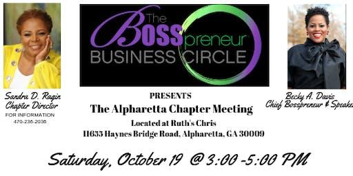 The Bosspreneur Business Circle Meeting- Alpharetta Chapter