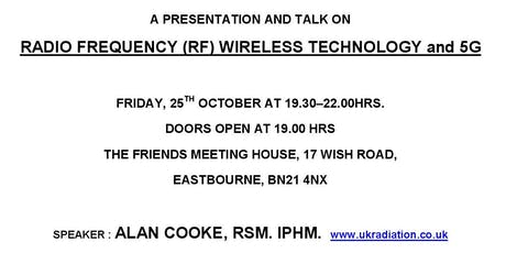 A PRESENTATION AND TALK ON RADIO FREQUENCY (RF) WIRELESS TECHNOLOGY and 5G tickets