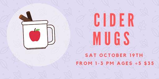 Hand-Building Workshop-Cider Mugs (Sat October 19th) 1-3pm