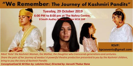 We Remember: The Journey of Kashmiri Pandits tickets