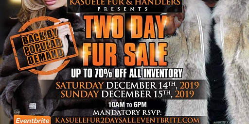2 DAY FUR & SHEARLING  SALE
