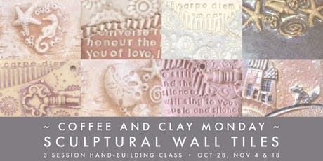 Pottery Class...  create your own sculptural wall tiles tickets