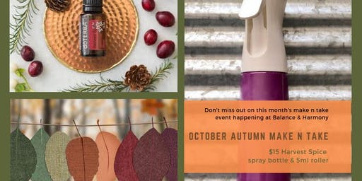 October Autumn Make n Take Event