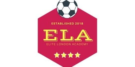 U13 and U14 Elite Football Trials for the London Youth Premier League tickets