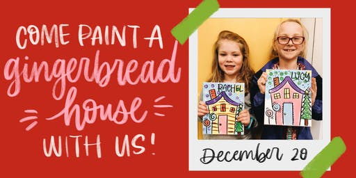 Kid's Gingerbread House Painting Workshop