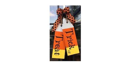 "Workshop: ""Trick or Treat"" door tags tickets"
