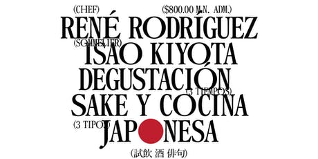 Cena/Maridaje:  Sake y Culinaria Tradicional Japonesa tickets