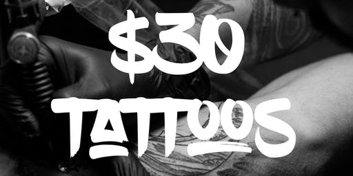 $30 Tattoos at Drip Tattoo Co.