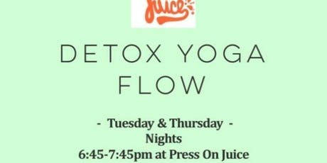 Detox Yoga Flow at Press On Juice! tickets