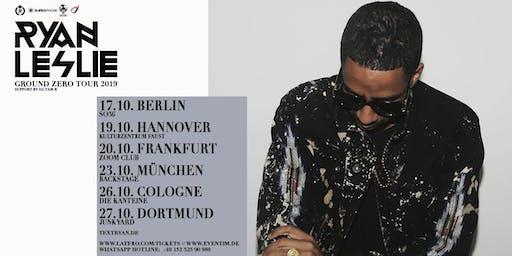 Ryan Leslie & Band Live in München - 23.10. - Backstage