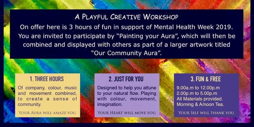 "Mental Health Week - ""Our Community Aura"" - A Fun & Free Creative Workshop!"