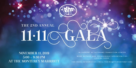 Veterans Transition Center 2nd Annual 11-11 Gala tickets