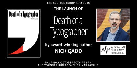Book Launch: Death Of A Typographer by Nick Gadd tickets