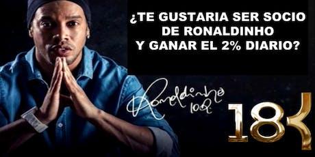 Bienvenido a la tribu!! 18k Ronaldinho entradas