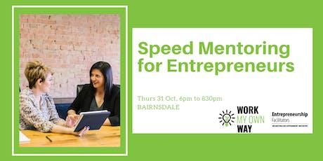 Speed Mentoring for Entrepreneurs tickets