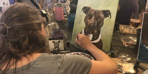 Paint Your Pet Class with Impawsible Pet Portraits by Mrs. B