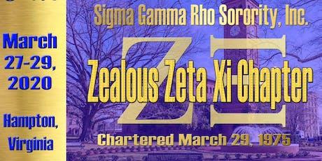 Zeta Xi Alumni Sisterhood Weekend: 45th Chapter Anniversary  tickets