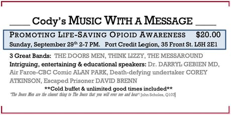 Cody's Music With a Message-Promoting Awareness of  Substance Use Disorder tickets