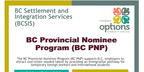 BC Provincial Nominee Program  (BCPNP) Information Session tickets