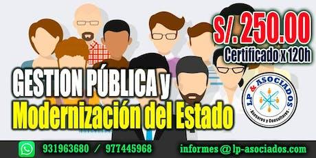 Gestión Publica y Modernización del Estado (S/. 250.00) entradas