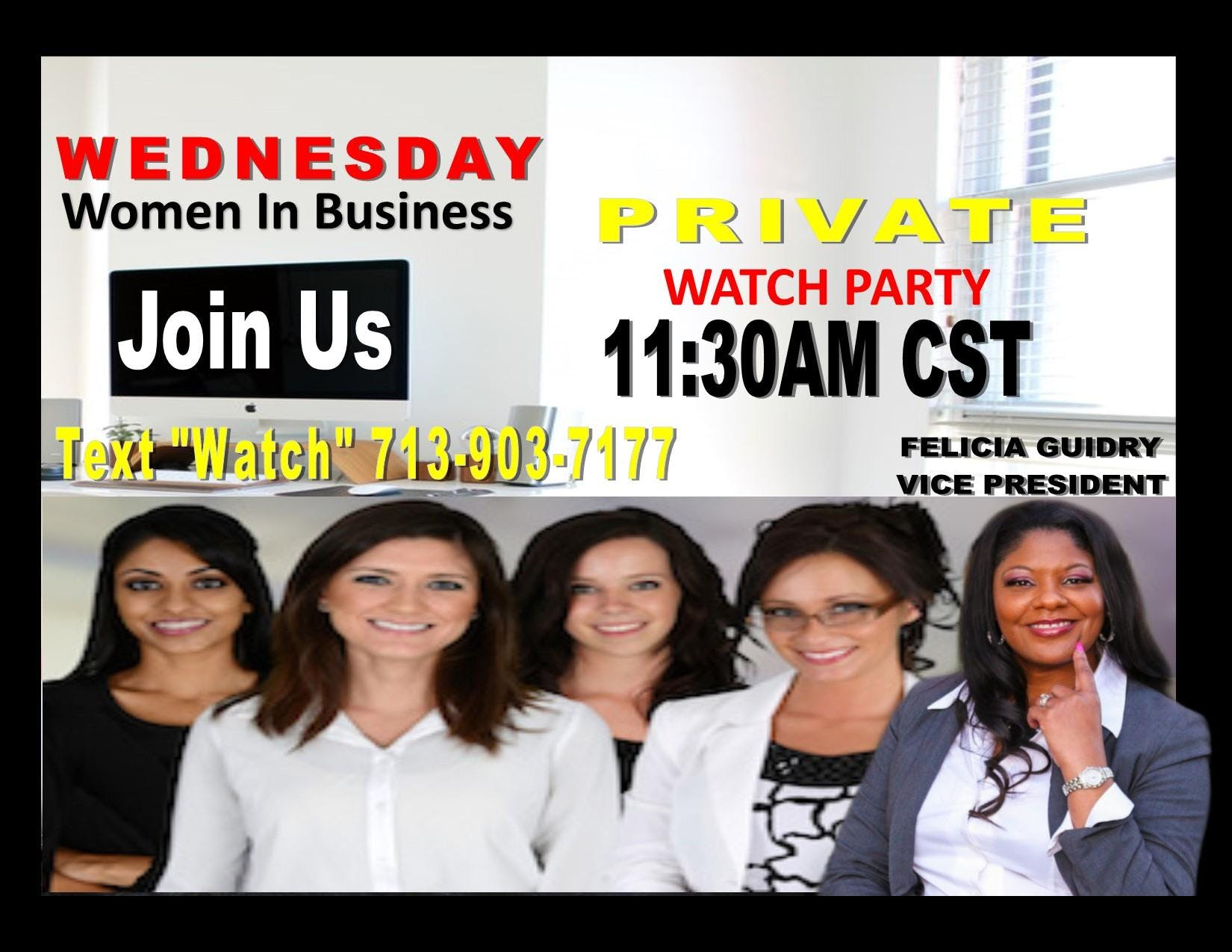 Women In Business Watch Party-California