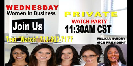 Women In Business Watch Party-Dallas tickets