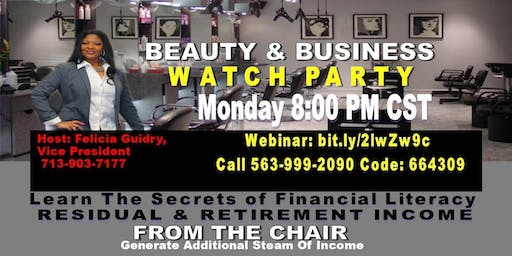 Beauty and Business Watch Party