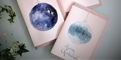 Create your own Christmas cards and gift tags with watercolour paints
