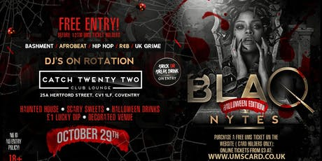 BLAQ NYTES - Halloween(Coventry) tickets