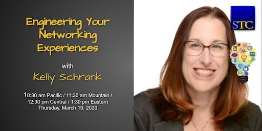 """Engineering Your Networking Experiences"" webinar with Kelly Schrank"