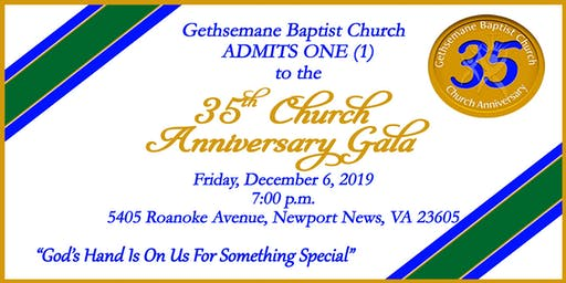 35th Church Anniversary Gala