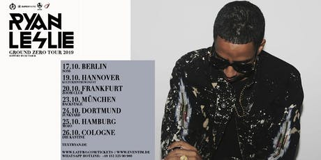 Ryan Leslie & Band Live in Frankfurt - 20.10. - Zoom Club Tickets