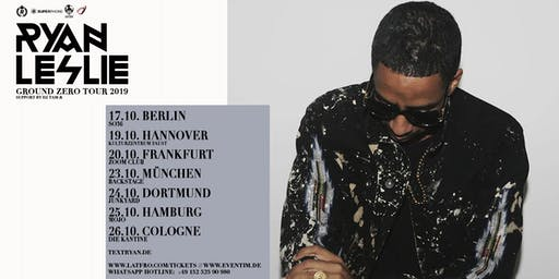 Ryan Leslie & Band Live in Frankfurt - 20.10. - Zoom Club