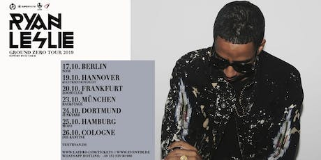 Ryan Leslie & Band Live in München - 23.10. - Backstage Tickets