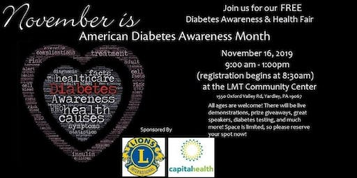 Free Diabetes Awareness & Health Fair