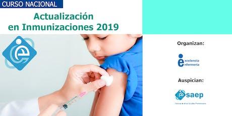 II CURSO NACIONAL DE  INMUNIZACIONES 2019 entradas