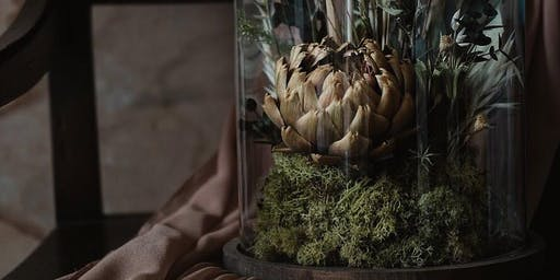 Dried flower cloche workshop with Thistle by Nature