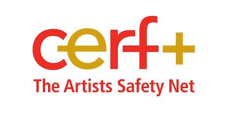 """CERF Get Ready Grants / Sesión de orientación para artistas plásticos """"materials-based"""" tickets"""