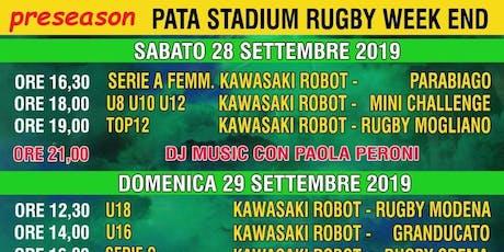 Rugby Calvisano Kawasaki Robot Terzotempo Dj set by Paola Peroni biglietti