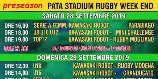 Rugby Calvisano Kawasaki Robot Terzotempo Dj set by Paola Peroni