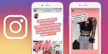 Workshop: Creación y edición de contenido para Instagram Stories. entradas