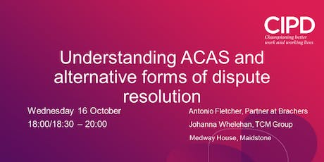 Understanding ACAS and Alternative Forms of Dispute Resolution tickets