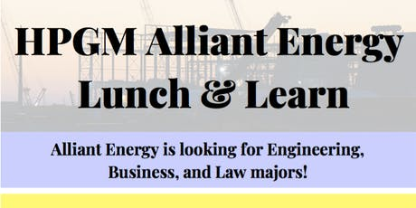 HPGM Alliant Energy Lunch & Learn tickets