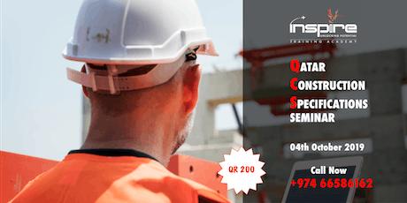 QATAR CONSTRUCTION  SPECIFICATIONS SEMINAR tickets