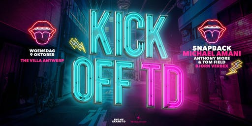 KICK OFF TD ∙ Wed 16 Oct ∙ The Villa