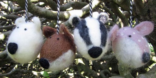 Needle Felting | Winter Wonderland Animal Baubles