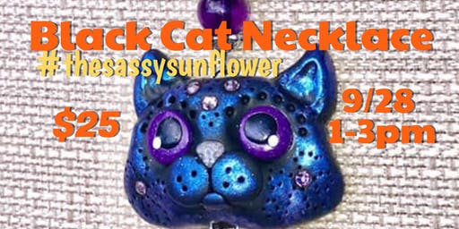 Black Cat Necklace with Annette