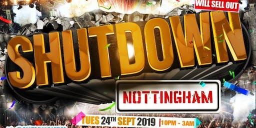 Shutdown Notts - Nottingham's Biggest Freshers Party