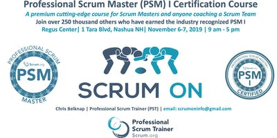 Scrum.org Professional Scrum Master (PSM) I - Nashua NH - Nov 6-7, 2019